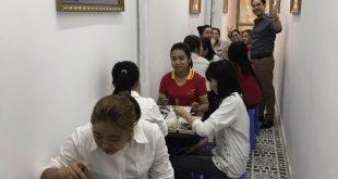 Tổng giám đốc VietinHomes Nguyễn Hoàng Quốc Nam cùng các nhân viên đã có một buổi trưa vui vẻ, ấm cúng tại nhà ăn.